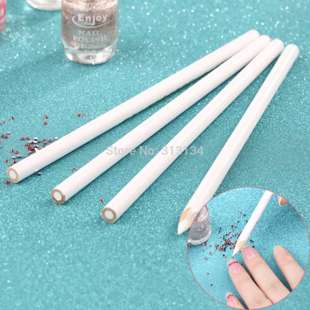 PromotionNew arrival High Quality 4 x Nail Art Rhinestones Gems Picking Tools Pencil Pen Pick Up Pen