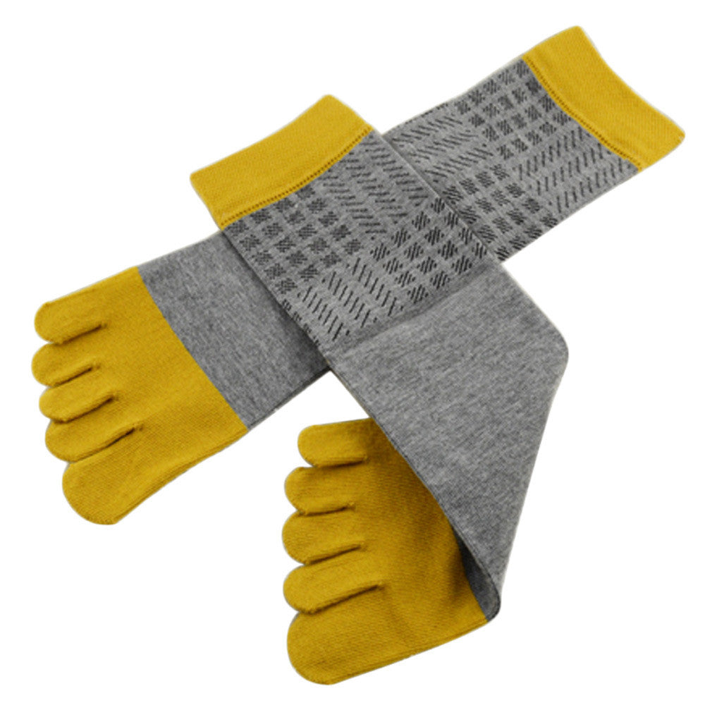Wiggle Socks Amazing Spring Autumn Summer 1 Pair Men Sports Running Five Finger Toe Socks - Cerkos  - 13