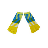 Wiggle Socks Creative Fashion Stripe Middle Tube Socks Women Stripe Cotton Casual Socks Daily Sports GYM Five Toe Socks - Cerkos  - 14