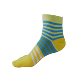Wiggle Socks Creative Fashion Stripe Middle Tube Socks Women Stripe Cotton Casual Socks Daily Sports GYM Five Toe Socks - Cerkos  - 9