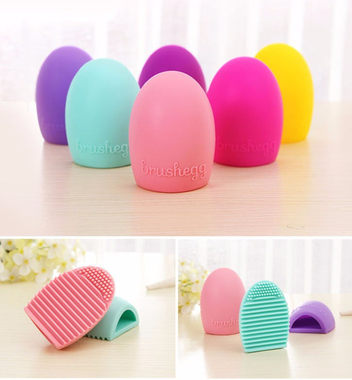 New Hot Selling Brushegg Silica Glove Makeup Washing Brush Scrubber Board Cosmetic Cleaning  Tools E10008 - Cerkos  - 8