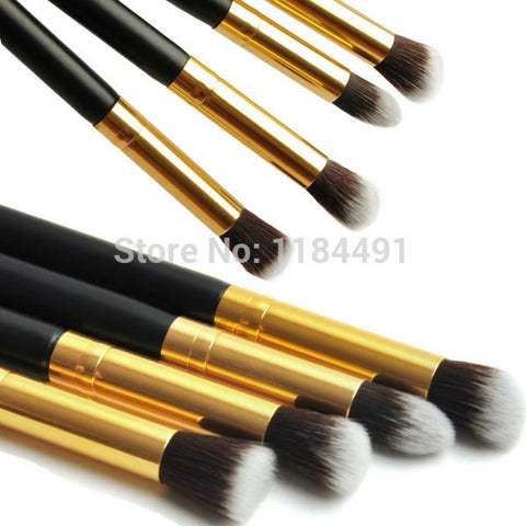 1Set/4pcs Professional Eye brushes set eyeshadow Foundation Mascara Blending Pencil brush Makeup tool Cosmetic Black YzxIK - Cerkos.com