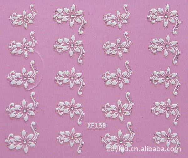 XF 3D nail stickers nail sticker nail art stickers nail accessories nail art wholesale XF150