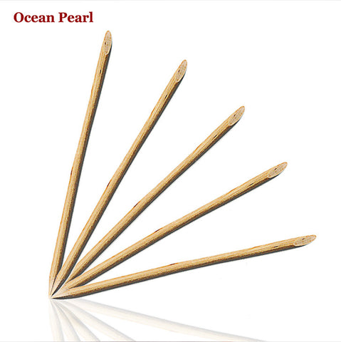 10pcs Nail Art Orange Wood Stick Cuticle Pusher Remover for Manicures - Cerkos.com