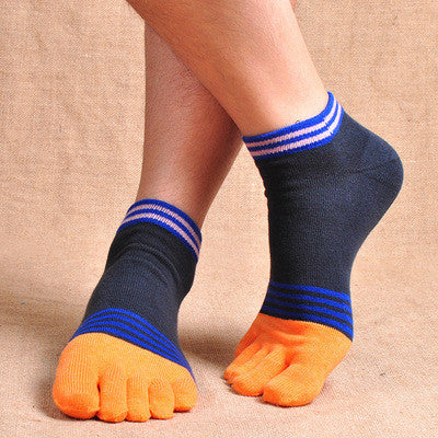 Wiggle Socks 100% cotton thin short high quality toe socks breathable comfortable antibiotic - Cerkos  - 1