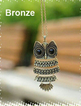 Fashion accessories jewelry New owl pendant long chain necklace gift  for women girl wholesale N1625 - Cerkos.com