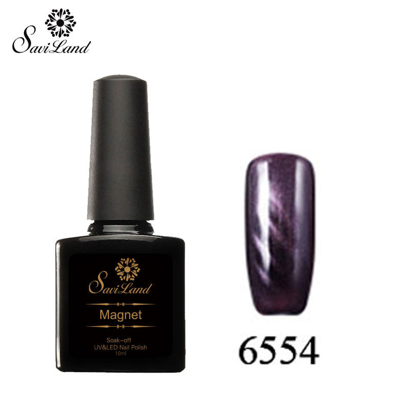 Saviland 3D Magnet UV Nail Gel Polish Cat Eye Colors Manicure Cat Colors 10ml Healthy and Eco-friendly Gel Lacquer Best On Ali - Cerkos  - 8