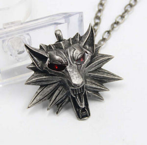 2015 Hot Sale Pendant Wizard Witcher 3 Medallion Pendant Necklace Wolf Head Necklace U Pick Color Halloween Necklace & Pendants - Cerkos.com