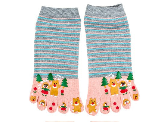 Wiggle Socks Miss sexy comfortable style woman's foot - high 100% cotton toe socks five fingers socks comic female 5 - toe socks - Cerkos  - 4