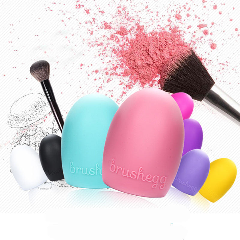 New Hot Selling Brushegg Silica Glove Makeup Washing Brush Scrubber Board Cosmetic Cleaning  Tools E10008 - Cerkos  - 40