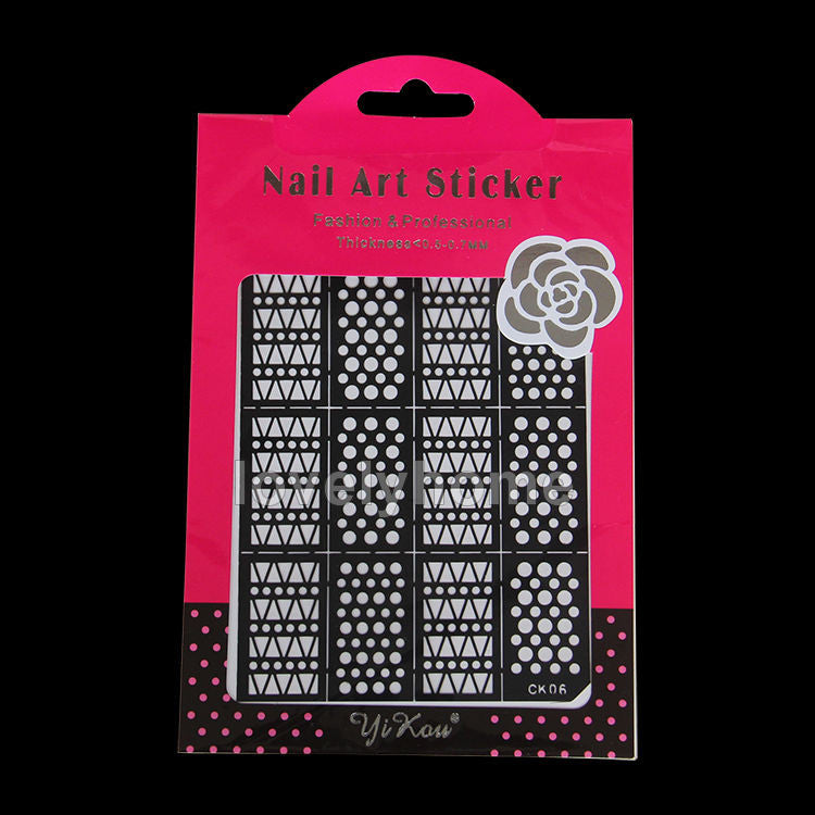 HOT SALE Easy Stamping Tool Nail Art Template Stickers Stamp Stencil Guide Reusable Tips 24 Style For Choice - Cerkos  - 21
