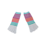 Wiggle Socks Creative Fashion Stripe Middle Tube Socks Women Stripe Cotton Casual Socks Daily Sports GYM Five Toe Socks - Cerkos  - 26