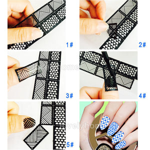 HOT SALE Easy Stamping Tool Nail Art Template Stickers Stamp Stencil Guide Reusable Tips 24 Style For Choice - Cerkos.com