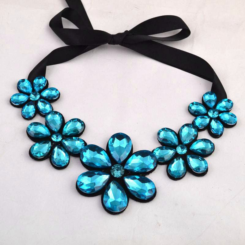 2014 luxury fashion short statement necklace and pendant resin color fashionable woman metal necklace gift - Cerkos.com