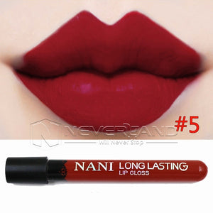 Hot Sale Waterproof Elegant Daily Color Lipstick matte smooth lip stick lipgloss Long Lasting Sweet girl Lip Makeup C10 - Cerkos  - 4