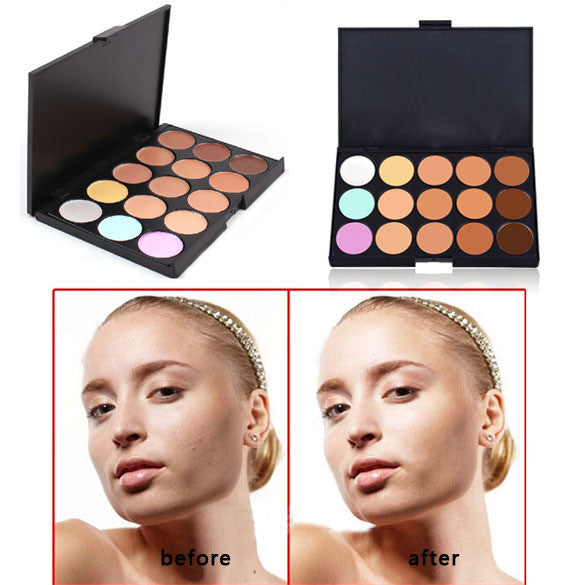 New Professional 15 Color Make Up Cream Camouflage Concealer Palette  Makeup Tools FATE - Cerkos