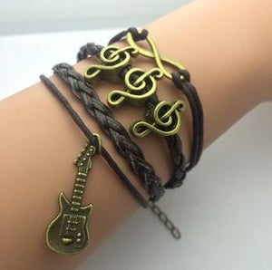 AB076 Fashion jewelry leather Double infinite multilayer bracelet factory price wholesales - Cerkos  - 11