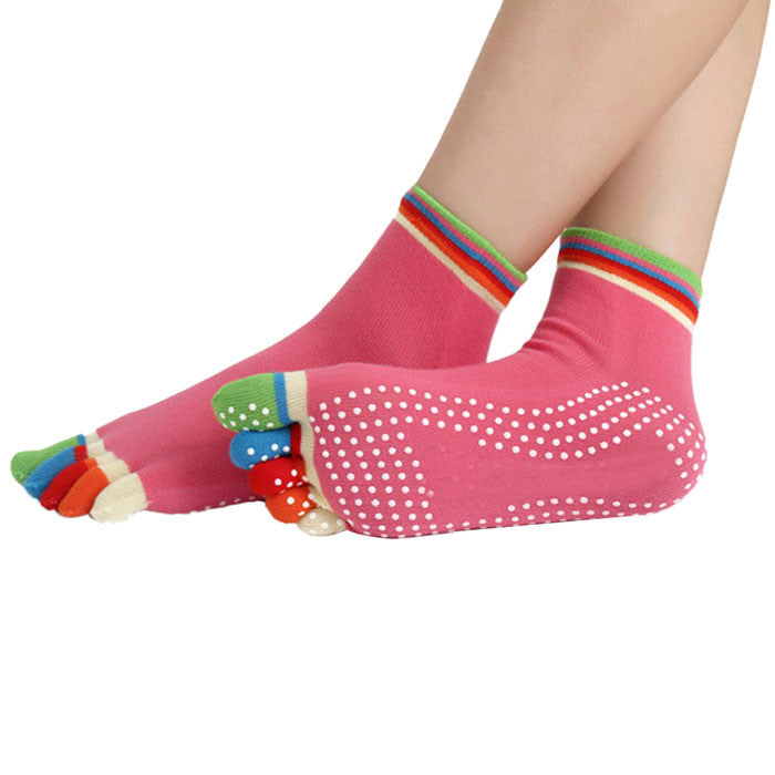 Newly Design High Quality Yoga Socks 5 Toes Cotton Socks Exercise Sports Pilates Massage Sock May20