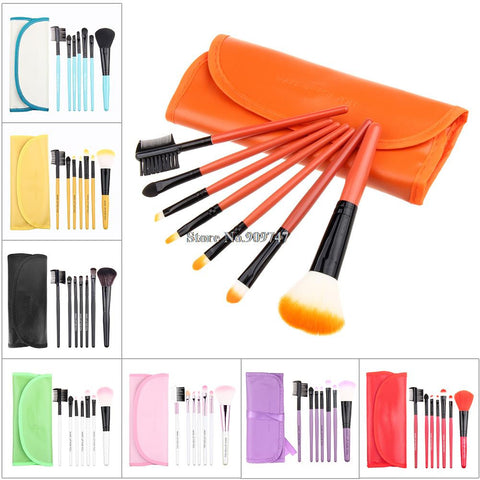 2014 new,Professional purple/black/green/red 7 pcs Makeup brush Tools make up brushes Cosmetic Brushes Free Shipping - Cerkos.com