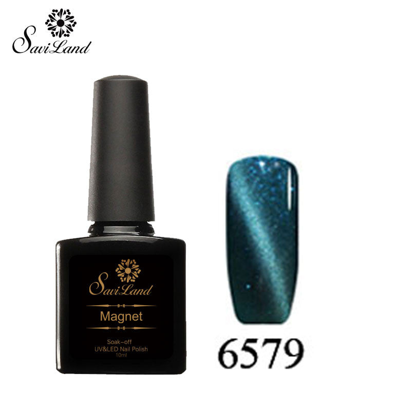 Saviland 3D Magnet UV Nail Gel Polish Cat Eye Colors Manicure Cat Colors 10ml Healthy and Eco-friendly Gel Lacquer Best On Ali - Cerkos  - 4