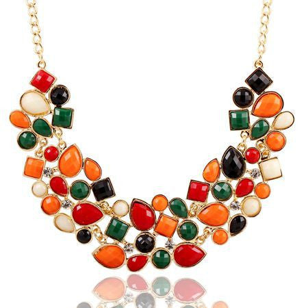 9 Colors Charm Luxury Western Style Chunky Hollow Acrylic Pendant Necklace Women Vintage Choker Necklace Jewelry For Women PT33 - Cerkos.com