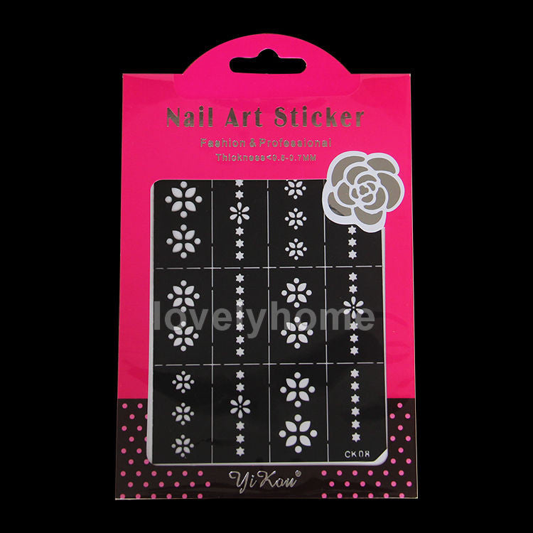 HOT SALE Easy Stamping Tool Nail Art Template Stickers Stamp Stencil Guide Reusable Tips 24 Style For Choice