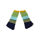 Wiggle Socks Creative Fashion Stripe Middle Tube Socks Women Stripe Cotton Casual Socks Daily Sports GYM Five Toe Socks - Cerkos  - 7