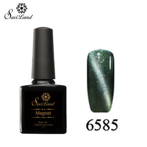 Saviland 3D Magnet UV Nail Gel Polish Cat Eye Colors Manicure Cat Colors 10ml Healthy and Eco-friendly Gel Lacquer Best On Ali - Cerkos  - 19