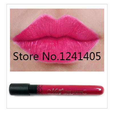 1pcs High Quality Moisture Matte Color Waterproof Lipstick Long Lasting Nude lip stick lipgloss red color vitality cerise star - Cerkos.com