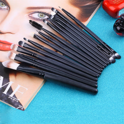15 pcs/Sets Eye Shadow Foundation Eyebrow Lip Brush Makeup Brushes Tools Cosmetic Kits Make Up Brush Set - Cerkos.com