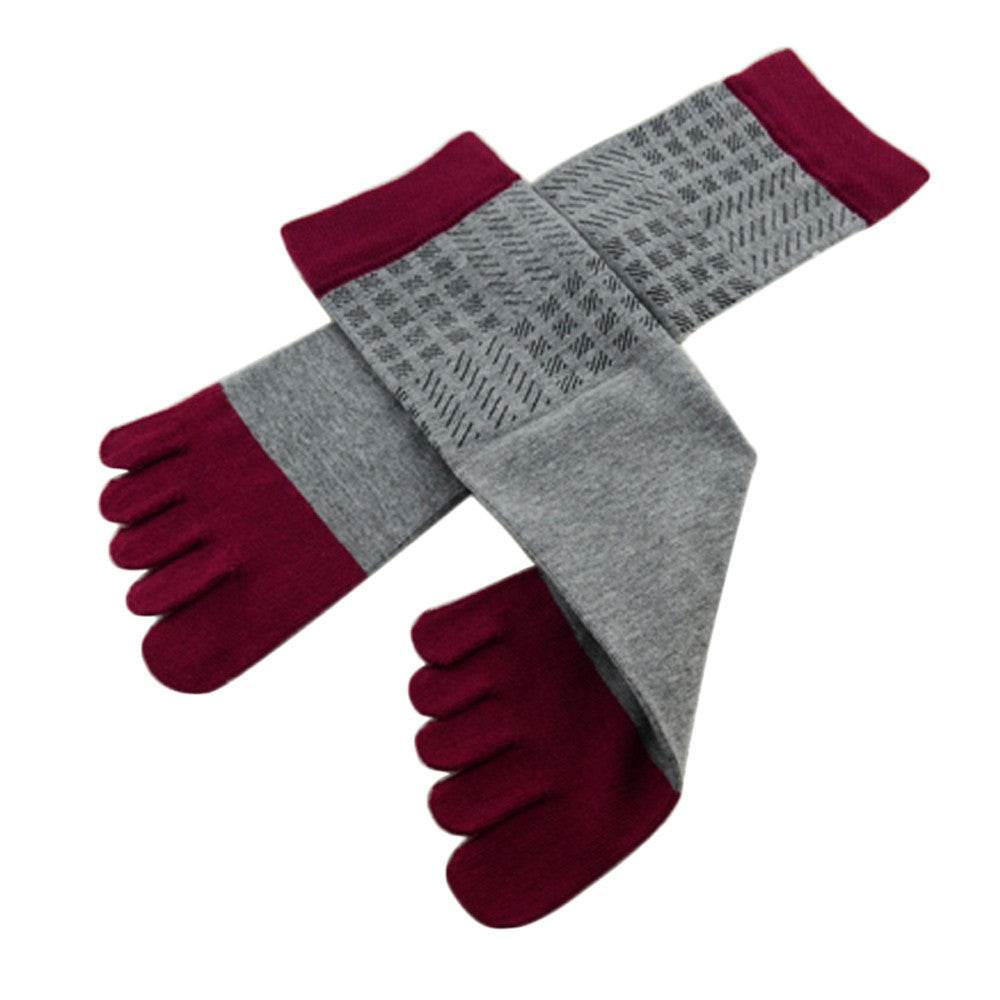 Wiggle Socks Amazing Spring Autumn Summer 1 Pair Men Sports Running Five Finger Toe Socks - Cerkos  - 17
