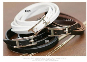 Unique Designer Stainless Steel Bracelets & Bangles Mens Gift Black Leather Knitted Magnetic Clasp Bracelet Men Jewelry