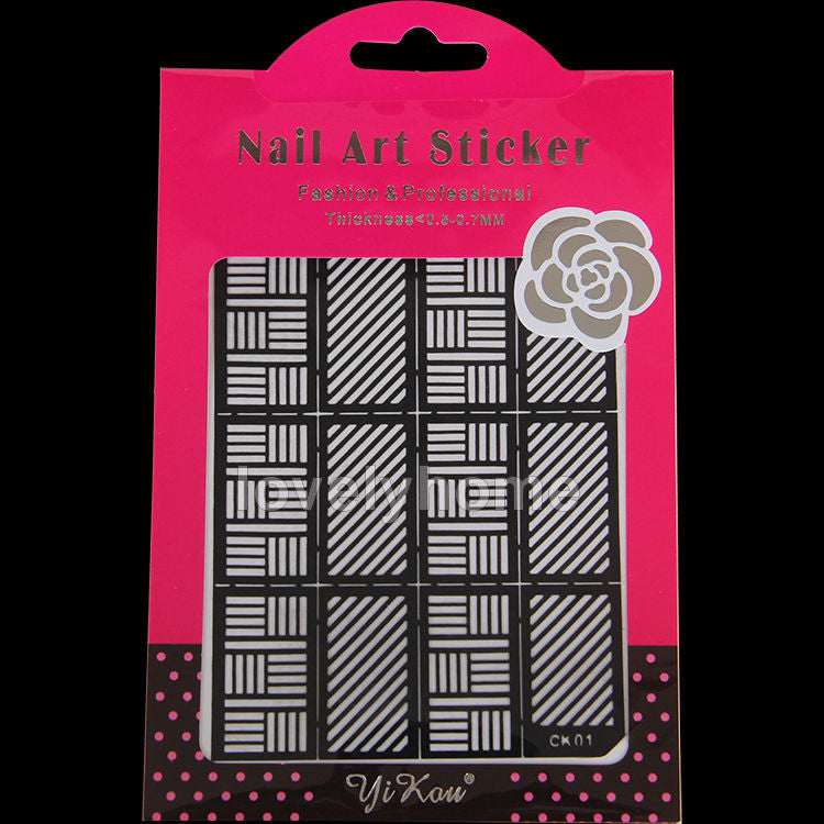 HOT SALE Easy Stamping Tool Nail Art Template Stickers Stamp Stencil Guide Reusable Tips 24 Style For Choice - Cerkos  - 24