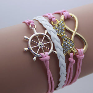 AB076 Fashion jewelry leather Double infinite multilayer bracelet factory price wholesales - Cerkos  - 19