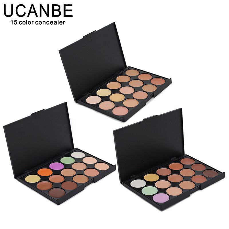 Special Professional 15 Color Concealer 15 colors Facial Face Cream Care Camouflage Makeup base Palettes set Cosmetic - Cerkos  - 1