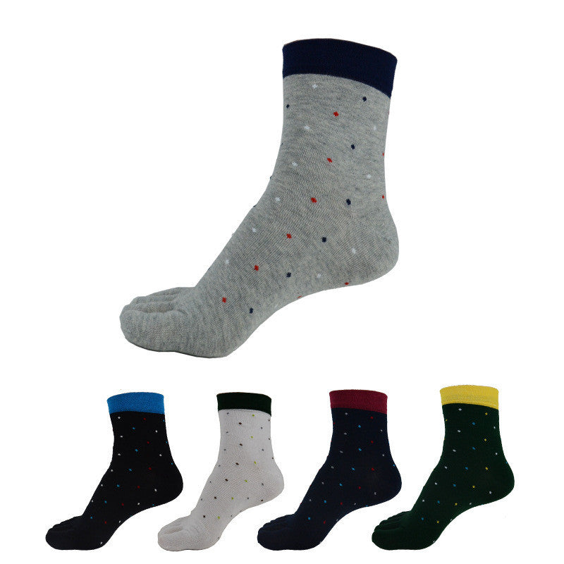 Wiggle Socks 1 Pair/Lot New Men's Socks Cotton Meias leisure Five Finger Socks Toe Socks For EU 39-44.5 Calcetines standad - Cerkos  - 1