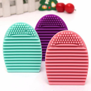New Hot Selling Brushegg Silica Glove Makeup Washing Brush Scrubber Board Cosmetic Cleaning  Tools E10008 - Cerkos  - 30