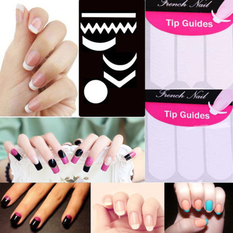 2 Pack Striping Line French Manicure Form Nail Art Tape Sticker DIY Stencil - Cerkos.com