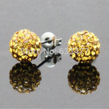 Free Shipping 19 Color 10MM New Shamballa Earrings Micro Disco Ball Shamballa Crystal Stud Earring For Women Fashion Jewelry - Cerkos  - 19