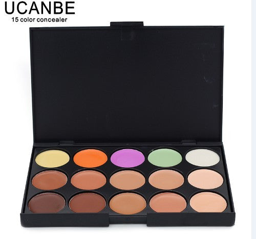 Special Professional 15 Color Concealer 15 colors Facial Face Cream Care Camouflage Makeup base Palettes set Cosmetic - Cerkos  - 4