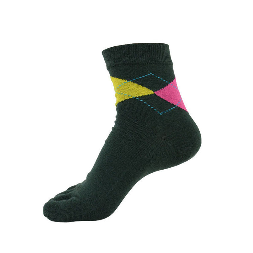 Newly Design Men Cotton 5 Toes Fingers Sports Socks Aug5
