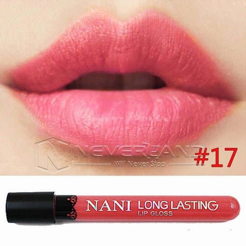 Hot Sale Waterproof Elegant Daily Color Lipstick matte smooth lip stick lipgloss Long Lasting Sweet girl Lip Makeup C10 - Cerkos  - 19