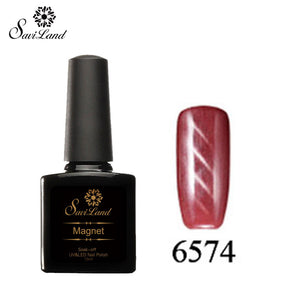 Saviland 3D Magnet UV Nail Gel Polish Cat Eye Colors Manicure Cat Colors 10ml Healthy and Eco-friendly Gel Lacquer Best On Ali - Cerkos  - 2