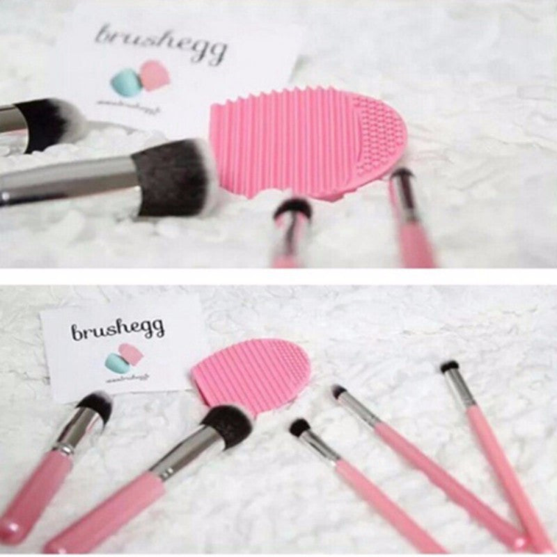 New Hot Selling Brushegg Silica Glove Makeup Washing Brush Scrubber Board Cosmetic Cleaning  Tools E10008 - Cerkos  - 6