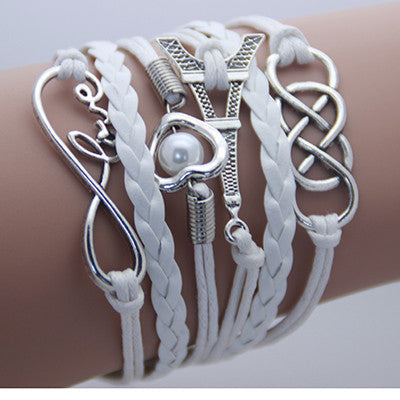 AB076 Fashion jewelry leather Double infinite multilayer bracelet factory price wholesales - Cerkos  - 13
