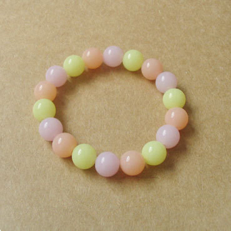 Korean Fashion Jewelry Womens Girls Sweet Cute Candy Color Jelly Beads Bracelet