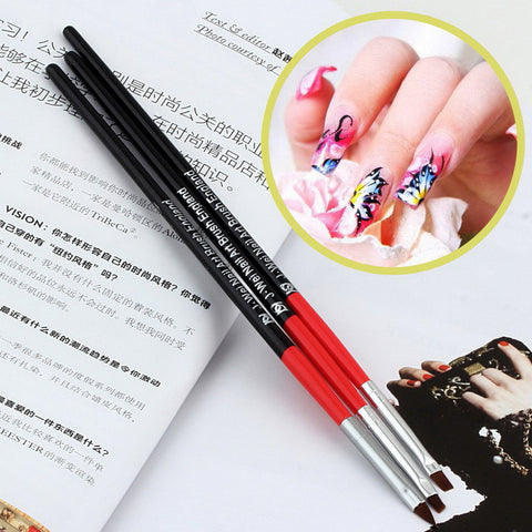 1set Nail Art Design UV Gel Acrylic Brush Pen Drawing Painting Set Tool Free Shipping - Cerkos.com