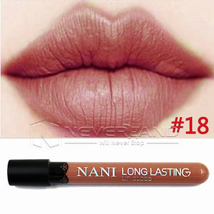 Hot Sale Waterproof Elegant Daily Color Lipstick matte smooth lip stick lipgloss Long Lasting Sweet girl Lip Makeup C10 - Cerkos  - 7