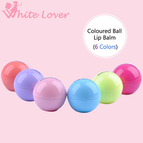 1PCS New Makeup Round Ball Moisturizing lip balm Natural Plant Sphere lip Pomade lip balm Lipstick Fruit Embellish lip Care#6693 - Cerkos.com