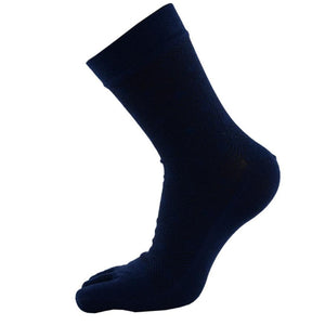 Hot Sale Men Pure Color Middle Tube Sports Running Cotton Five Finger Toe Socks Calcetines Free Shipping - Cerkos.com